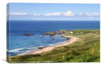 Whitepark Bay to ourselves, Canvas Print