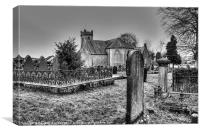 Crossdernot Parish Church, Canvas Print
