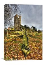 The Cross and the Church, Canvas Print