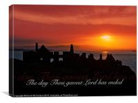 The Day is Ended sunset, Canvas Print
