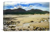 Newcastle and the Mournes, Canvas Print