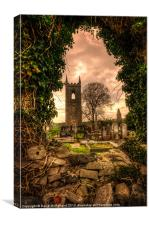 Tullylish Bell Tower, Canvas Print