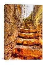 The Black Nun Staircase, Canvas Print