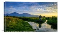 Evening time in the Mournes, Canvas Print