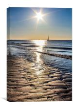 Spurn Point Sunrise, Canvas Print