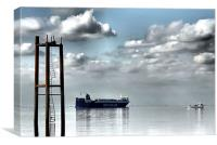 humber estuary, Canvas Print