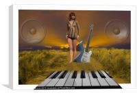 The Sands Of Music, Canvas Print