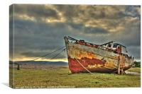 Boat in Porlock Weir, Canvas Print