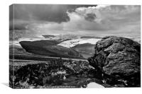 View from Win Hill, Canvas Print