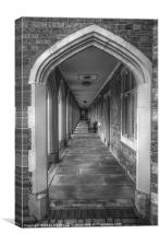 Arch at Almshouses, Bedworth, Canvas Print