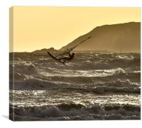 Windsurfing off Marazion Bay, Canvas Print