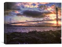 Forth Road Bridge Scotland, Canvas Print
