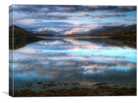 Morning Reflections On Loch Leven, Canvas Print