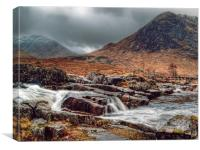 The River Etive Scotland, Canvas Print