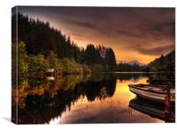Loch Ard Reflections, Canvas Print