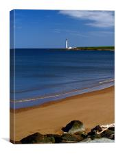 Montrose Beach And Scurdyness Lighthouse., Canvas Print