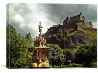 The Ross Fountain, Edinburgh., Canvas Print