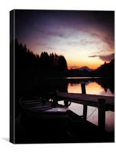 Loch Ard, Spring Sunset 2, Canvas Print