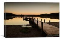 Dawn over Coniston Water, Canvas Print