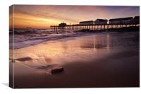 Early Morning Glow over Southwold, Canvas Print