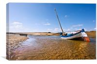 The Overy Staithe, Canvas Print