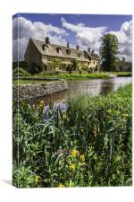 Cottages at Lower Slaughter, Canvas Print