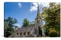 St Mary's Church, Lower Slaughter, Canvas Print
