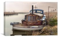 Boat on the River Thurne, Canvas Print