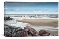 Happisburgh Beach, Canvas Print