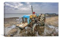 Cromer Tractor, Canvas Print