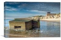 Hemsby Pill Box, Canvas Print