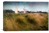 Yacht at Thurne Mill, Canvas Print