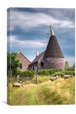 Moorden Oast House, Canvas Print