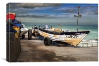 Fishing Boat at Overstrand, Canvas Print