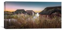 Hickling Thatched Boathouses, Canvas Print