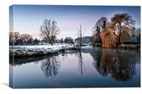 Frost at Coltishall, Canvas Print