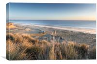 Hemsby Beach from the Dunes, Canvas Print
