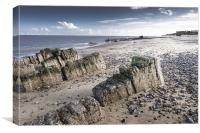 Rocks on Caister Beach, Canvas Print