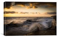 High tide at Overstrand, Canvas Print