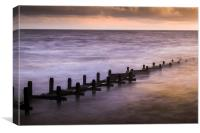 Groyne at Overstrand, Canvas Print