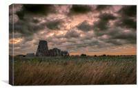 Early Morning at St Benets Abbey, Canvas Print