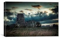Stormy morning at St Benets Abbey, Canvas Print