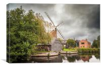 Hunsett Mill on the River Ant, Canvas Print