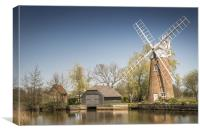 Hunsett Mill on the River Ant, Norfolk Broads, Canvas Print