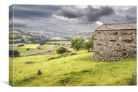 Cow House in Swaledale, Canvas Print