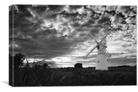 Thurne Mill in Black and White, Canvas Print
