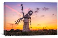 Summer Solstice Sunset at Thurne, Canvas Print
