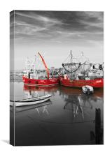 Red Drifters, Canvas Print