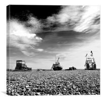 A boat, a boat, a tractor!, Canvas Print