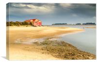 Wells Lifeboat Shed, Canvas Print